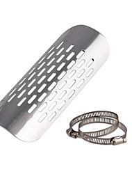 cheap -Motorcycle Chrome Heat Shield for Kawasaki Cruiser Exhaust Muffler Pipe Cover