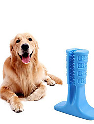 cheap -Chew Toy Cleaning Toothbrushes Dog Pet Toy 1pc Pet Friendly Portable Animals Full Body Silicone Silica Gel Gift