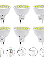 cheap -6pcs 6 W LED Spotlight 600 lm E14 GU10 MR16 MR16 60 LED Beads SMD 2835 Warm White White 220-240 V 110-120 V