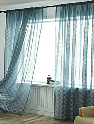 cheap -Modern Sheer One Panel Sheer Bedroom   Curtains