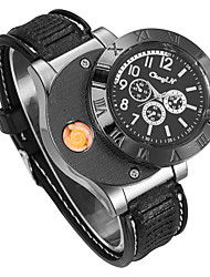 cheap -Men's Sport Watch Japanese Quartz Rubber Black / Brown No Chronograph Creative New Design Analog New Arrival Fashion - Black Gold Brown Two Years Battery Life