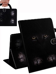 cheap -Case For iPad Air / iPad 4/3/2 / iPad (2018) Wallet / Card Holder / Shockproof Full Body Cases Cat PU Leather Case For iPad Air 2 / iPad (2017) / iPad Pro 9.7