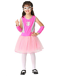 cheap -Spider Dress Outfits Halloween Props Masquerade Kid's Girls' Halloween Halloween Festival / Holiday Spandex Polyester / Polyamide Blushing Pink Carnival Costumes