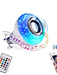 cheap -Bluetooth Light Bulb Speaker 12W Smart LED Music Play Bulb E27 E26 B22 BaseColorfulWireless RGB LED Light Bulbs With 24 Keys Remote Control for Bar Decoration Home KTV Party Restaurant