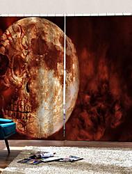 abordables -luxe uv digtal impression parti halloween thème horrible crâne rideaux fond épaississement rideaux occultants pour la maison decro