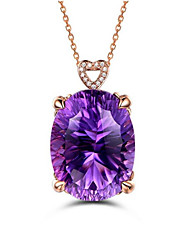cheap -Women's Blue Onyx Pendant Necklace Simulated Star Ball Fashion Gold Plated Purple 45+5 cm Necklace Jewelry 1pc For Gift Daily