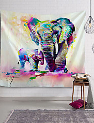 cheap -Oil Painting Style Wall Tapestry Art Decor Blanket Curtain Hanging Home Bedroom Living Room Decoration Elephant Animal