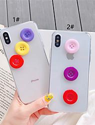 Недорогие -чехол для яблока iphone xs / iphone xr / iphone xs max прозрачный / сделай сам задняя крышка однотонная тпу для iphone x xs 8plus 8 7plus 7 6 6s 6plus 6s plus