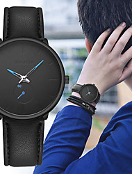 cheap -Men's Dress Watch Quartz Formal Style Stylish Leather Black / Brown Casual Watch Analog Fashion Minimalist - Brown Black / White Black / Blue One Year Battery Life / Stainless Steel