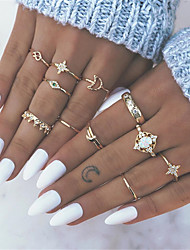 cheap -Ring Set Champagne Alloy 13pcs / Women's