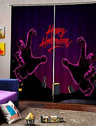 Недорогие -роскошь уф цифровая печать счастливый хэллоуин тема шторы затемнения обычай род комплект занавес