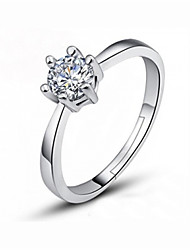 cheap -Women's Ring 1pc Silver Imitation Diamond Alloy Simple Korean Fashion Wedding Party Jewelry Classic