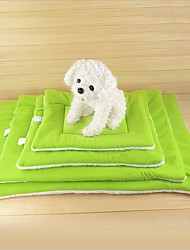 cheap -Dogs Cats Mattress Pad Bed Sofa Cushion Bed Blankets Lounge Sofa Mats & Pads Plush Fabric Solid Colored Coffee Green Blue