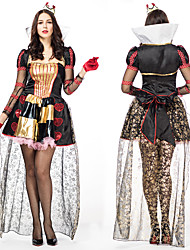 cheap -Queen Cosplay Costume Outfits Masquerade Adults' Women's Cosplay Halloween Halloween Festival / Holiday Polyster Black Women's Carnival Costumes