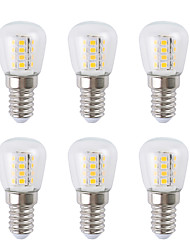 cheap -6pcs 3 W LED Globe Bulbs 300 lm E14 26 LED Beads SMD 2835 Warm White White 220-240 V