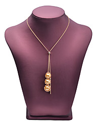 cheap -Women's Freshwater Pearl Pendant Necklace Luxury Pearl Chrome Gold 90 cm Necklace Jewelry 1pc For Festival