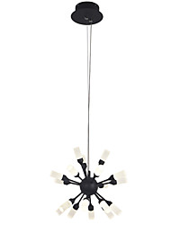 cheap -19 Bulbs ZHISHU 30 cm LED / WIFI Control Chandelier Metal Acrylic Cluster / Novelty Painted Finishes LED / Modern 110-120V / 220-240V