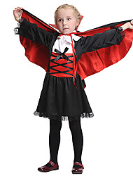 cheap -Vampire Dress Cosplay Costume Cloak Halloween Props Masquerade Kid's Girls' Cosplay Halloween Halloween Festival Halloween Children's Day Masquerade Festival / Holiday Other Material Polyster