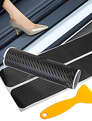 cheap -Car Door Sticker Carbon Fiber Car Door Sill Protector Traceless Sticker Anti Scratch Scuff Threshold Protection Auto Accessories
