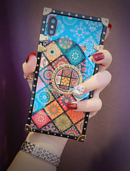cheap -Case For Samsung Galaxy S9 / S9 Plus / S8 Plus/S8/S10/S10 Plus/S10e/Note 8/Note 9/M20/M30 Shockproof / Ring Holder / Pattern Back Cover Geometric Pattern Metal