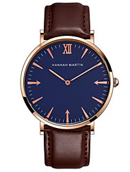 cheap -Men's Dress Watch Quartz Leather Black / Brown Water Resistant / Waterproof New Design Cool Analog Casual - Brown Golden+White Gold / Blue