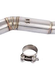 Недорогие -Средняя труба выхлопа мотоцикла соединяет переходник трубы глушителя, соединяет трубу для Honda cbr400 / 500r 2013-2015 cb400x / 500x 2013-2016