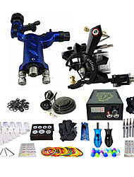 cheap -Professional Complete Tattoo Kit 1 Rotory Machine Gun 1 Copper Coil Machine Gun 50 Needles Power Supply