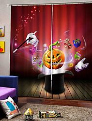 Недорогие -Партия хэллоуин тема шляпа тыква фон шторы утолщение плотный стержень комплект занавес для дома decro