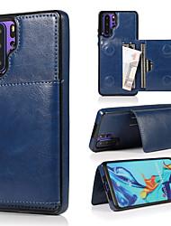 abordables -Etui en cuir rétro pour huawei p30 pro p30 lite p30 plusieurs porte-cartes étuis de téléphone pour huawei mate 20 pro mate 20 lite mate 20 avec support pour portefeuille magnétique