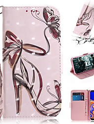 cheap -Case For Samsung Galaxy M10(2019) /M20(2019) /M30(2019)  / Wallet / Card Holder / Shockproof Full Body Cases High Heels PU Leather for  Galaxy J4 Plus(2018) / J6 Plus(2018) / J3(2018) / J8(2018)
