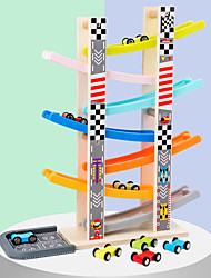 cheap -Track Rail Car Ramp Racer Wooden Relieves ADD, ADHD, Anxiety, Autism Decompression Toys Parent-Child Interaction Car Race Car All Kids Toy Gift