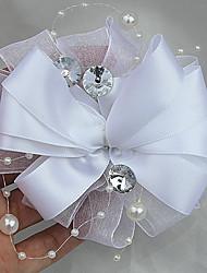 cheap -Wedding Flowers Boutonnieres Wedding / Wedding Party Grosgrain / Bead 0-10 cm