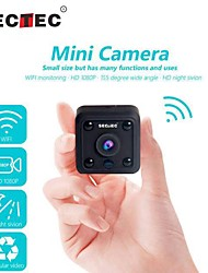 cheap -INQMEGA Mini WIFI Camera 2 mp HD 1080P CMOS IP Camera Wireless Small Indoor CCTV Infrared Night Vision Remote Access Motion Detection Home Security Camera SD Card Slot Audio APP