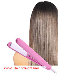 cheap -1pcs Hair Curler Straightener Mini Multifunctional Ceramic Flat Iron Hair Care Styler