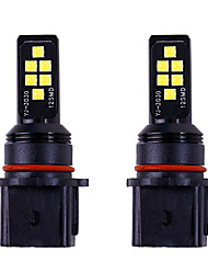 cheap -2pcs car p13w led Car Light Bulbs SMD 3030 LED Fog Lights drl 12v white amber For Toyota / Honda All years