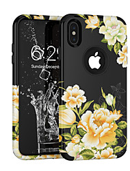cheap -Case For Apple iPhone XS / iPhone XR / iPhone XS Max Shockproof / Dustproof / Pattern Full Body Cases Flower TPU / PC