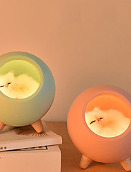 cheap -Cute Cat House Night Light Touch Dimming LED Baby Kids Bedside Sleep Lamps Bedroom Home Decor Holiday Gift