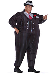 cheap -More Costumes Magician Cosplay Costume Inflatable Costume Adults' Men's Halloween Halloween Festival / Holiday 100% Polyester Black Men's Women's Carnival Costumes / Air Blower / Leotard / Onesie