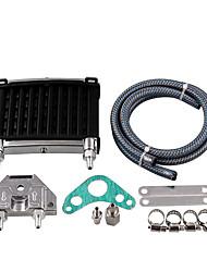 cheap -Motorcycle Aluminum Motor Oil Cooler Radiator Kit Universal for 50cc 110cc 125cc 140cc 150cc ATV PIT PRO Trail Dirt