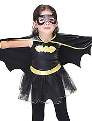 cheap -Super Heroes Bat Movie / TV Theme Costumes Dress Cosplay Costume Gloves Cloak Halloween Props Kid's Girls' Halloween Halloween Birthday Masquerade Christmas Halloween Carnival Festival / Holiday Faux