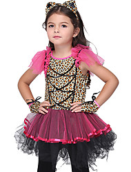 cheap -Animal Dress Cosplay Costume Masquerade Kid's Girls' Cosplay Halloween Halloween Festival Halloween Children's Day Masquerade Festival / Holiday Fabric Polyster Red+Black Carnival Costumes Animal