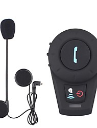 cheap -Motorcycle Helmet Bluetooth Intercom Helmet Bluetooth Headset BT Interphone FM Radio
