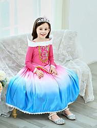 cheap -Elsa Dress Cosplay Costume Masquerade Girls' Movie Cosplay A-Line Slip Cosplay Halloween Red Dress Halloween Children's Day Masquerade Poly / Cotton Blend