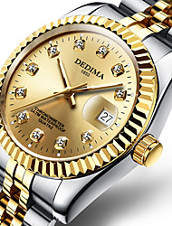 cheap -Men's Steel Band Watches Japanese Quartz Stainless Steel Silver / Gold 30 m Water Resistant / Waterproof Calendar / date / day Chronograph Analog Luxury New Arrival - Gold / Silver / White Gold
