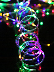 cheap -7m String Lights 50 LEDs 1Set Mounting Bracket 4pcs Warm White / RGB / White Waterproof / Solar / Creative Solar Powered
