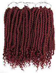 cheap -Faux Locs Dreadlocks Boom Twists Box Braids Black Synthetic Hair Braiding Hair 1 Piece / There are 24 roots in one piece. Normally 5-10 pieces are enough for a full head.