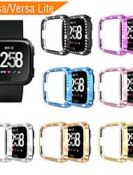 Недорогие -ПК бриллианты чехол для fitbit versa ремешок для экрана защитная оболочка для часов умные часы аксессуары для fitbit versa lite