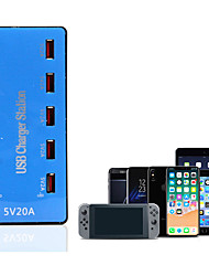 cheap -10 Ports USB Charger 20A Smart Phone Desktop Charging Station 5V 2A for Samsung Xiaomi iPad Tablet PC