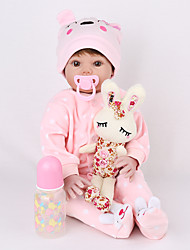 cheap -NPK DOLL 22 inch Reborn Doll Reborn Toddler Doll Baby Girl lifelike Safety Gift Cute Education Cloth 3/4 Silicone Limbs and Cotton Filled Body with Clothes and Accessories for Girls' Birthday and