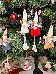 cheap -Christmas Decorations Pendant Angel Plush Doll Christmas Tree Creative Decoration Charm